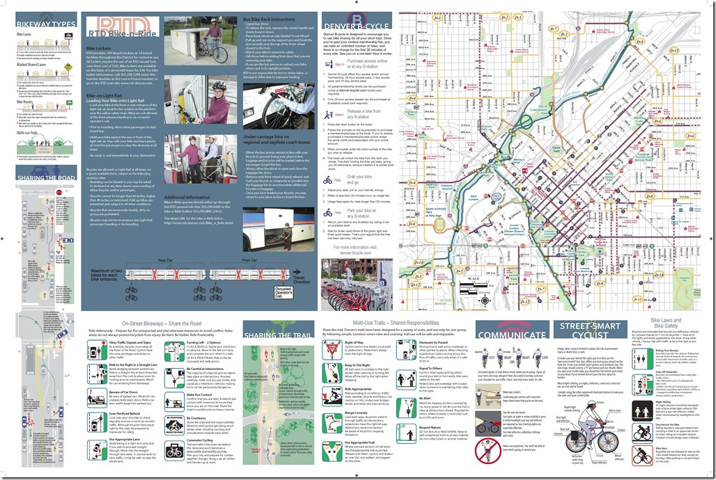 Denver Bike Map Page 1