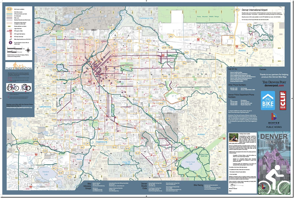 Denver Bike Map Page 2