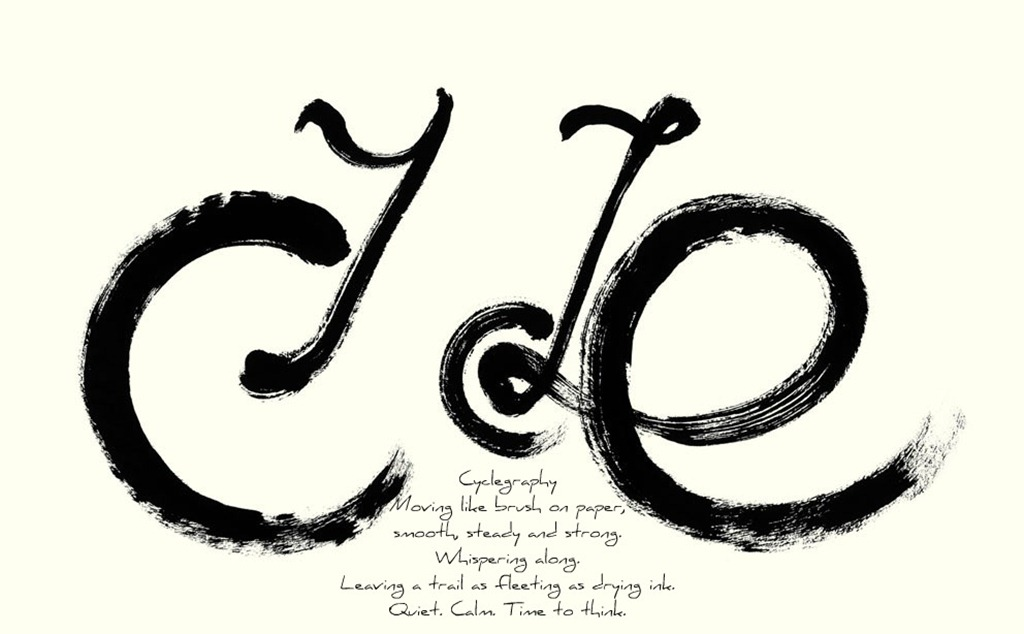 Cyclegraphy with text